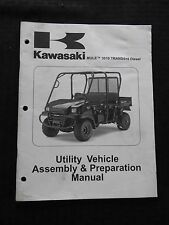 2008 KAWASAKI MULE 3010 DIESEL TRANS 4x4 ATV VEHICLE ASSEMBLY PREPARATION MANUAL