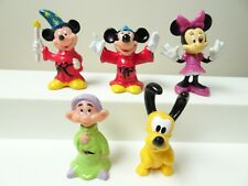 "New listing Disney 2"" Mickey Hong Kong Fantasia Minnie Mouse Pluto Dwarf figurine toy lot"