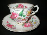VINTAGE ROYAL STAFFORD PORCELAIN TEA CUP & SAUCER, FLOWER BOUQUET