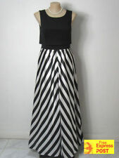 Full-Length Ball Gowns Striped Dresses for Women