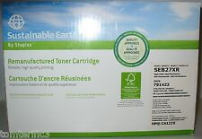 Staples  Black Toner Cartridge Sustainable Earth SEB27XR for HP C4127x (HP27)