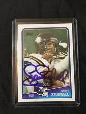 1988 Topps Rookie SCOTT STUDWELL Vikings Ring Of Honor Autographed Signed