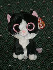 "Ty Beanie Boo PEPPER Black & White CAT 6"" 2014 MWMT RARE/RETIRED HTF*glitter"