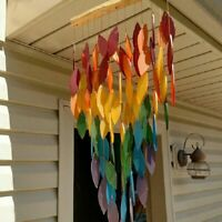 Rainbow Wind Chimes Outdoors Windchime for Garden Porch Yard Patio Colorful