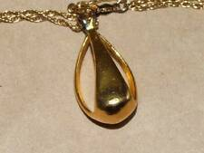 Open Work Pendant Necklace Vintage Abstract Sterling Vermeil