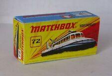 REPRO BOX MATCHBOX Superfast Nº 72 hovercraft
