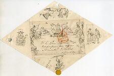 1840 bellotas Caricatura Envoltura Por John Menzies usado Edimburgo a Londres