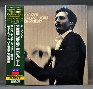 GIULINI NPO MOZART: Symp 40 / 41 Jupiter UCCD-9188 JAPAN Mini LP CD Factor Seald