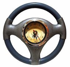 Autolenkrad Voiture Volant Horloge Murale Montre Gris Décoration Bureau Garage