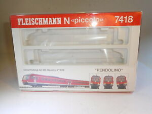 ++ Spur N Fleischmann 7418 Leerbox Leerschachtel Leerkarton für Pendolino rot