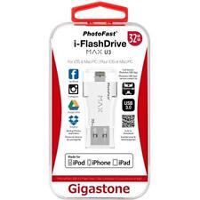PhotoFast Gigastone USB 3.0 i-FlashDrive MAX U3 for iOS - White 32GB - IF-6600