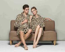 Animal Print Ultra Plush Lightweight Bathrobe Fleece Spa Robe Leopard Giraffe
