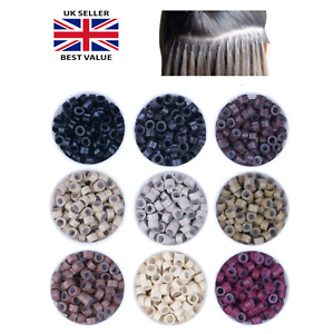 Hair Extensions Silicone Micro Rings Micro Loop Hair Beads Link Tip 5MM 1000PC