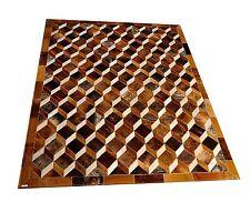 Patchwork Teppich aus buntem Kuhfell - 200 cm x 150 cm