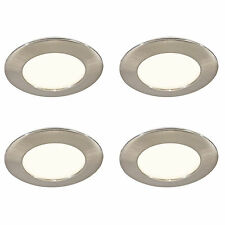 4 LED MAINS RECESSED LIGHT KITCHEN UNDER CABINET CUPBOARD WARM WHITE 30000 HOUR