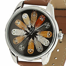 Quartz Women Leather Wrist Watch Owl Pattern Stainless Steel Watches Band S New