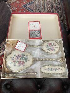 Beautiful Rare Vintage Regent of London Porcelain Boxed Vanity Set