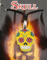 Collar Colgante Cruz Calavera Mexicana Estaño 6747-D8B