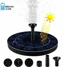 2.5W Solar Fountain Pump Garden Water Spray Head Submersible Birdbath Pond Pool