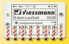 Viessmann 5040 H0 Warnbaken, 8 Stück mit Lauflichtelektronik #NEU OVP#