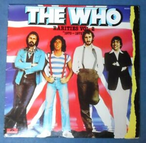 """The Who - Rarities Vol. 2 """"1970-1973"""" / Polydor Records 813 570-1 France 1984 LP"""