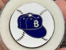 "1955 Brooklyn Baseball/Hat Design ""Balfour"" Very Rare World Series Press Pin."