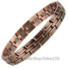 NEW Mens Copper Alloy Anitque Finish Magnetic BRACELET Magnet Health Therapy
