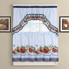 "Golden Delicious Tier and Swag Kitchen Curtain Set 36""L x 56""W"