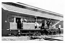 pt7025 - Isle of Wight Railway - Steam Train no 10 at Newport - photograph 6x4