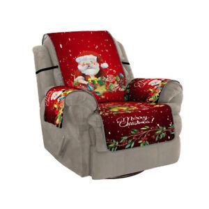 1/2/3 Seater Christmas Sofa Cover Slipcover Xmas Couch Protector Xmas Home Decor