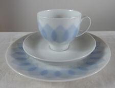 1 x 3 tlg. Kaffeegedeck von Rosenthal. Lotus, Dekor blau