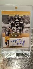 T.J. WATT 2019 PANINI PLATES & PATCHES GOLD AUTOGRAPH 39/99 AUTO STEELERS