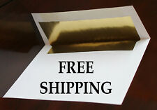70lb Top Quality Envelopes for Weddings Invitation Announcements Gold Foil Lined
