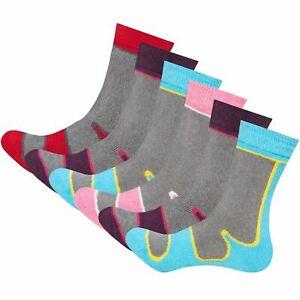 3 Pairs Ladies Thermal Boot Socks Thick Winter Warm Hiking Adults Womens Walking