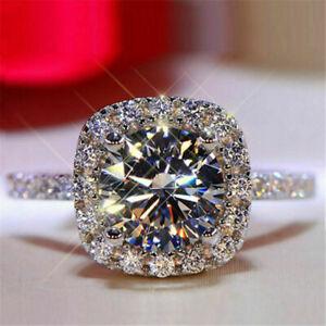 Elegant 14k White Gold 1ct Round Cut Bridal Wedding Rings Moissanite Jewellery 9
