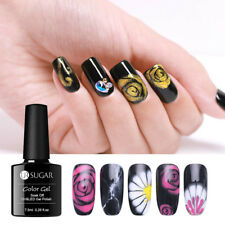 UR SUGAR Blossom Painting Blossom Gel Polish 7.5ml Black Nail Art Gel Varnish