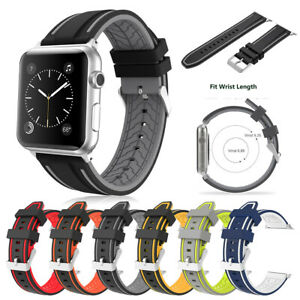 Silicone Bracelet Strap Watch Band For Apple iWatch Series 3 2 1 38/40/42/44mm