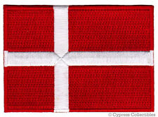 DENMARK FLAG embroidered iron-on PATCH DANISH EMBLEM souvenir applique Danmark