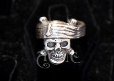 Depp Pirate Skull STERLING SILVER Ring Acme OG sculpt Pirates of the caribbean