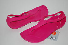 NWT CROCS SEXI FLIP FLOPS BLACK BROWN BLUE PURPLE PINK 6 7 8 9 10 strappy shoes