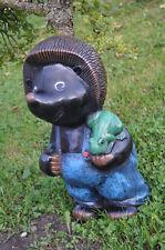 IGEL mit einem Frosch 50 cm groß  DEKOFIGUR, GARTEN STATUE