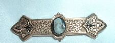 VINTAGE EDWARDIAN HARDSTONE CAMEO GOLD WASHED WATCH PIN