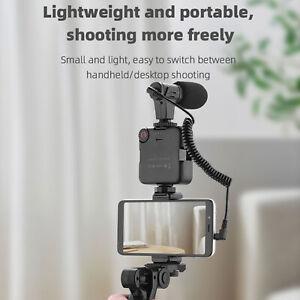 For Mobile Phone Vlog Shooting Kit Tripod Fill Light Phone Holder Microphone