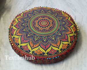 "35"" New Ombre Mandala Round Floor Cushion Pillow Cover Seating Ottoman Pouffe"