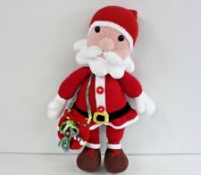 "Amigurumi Crochet Handmade Stuffed Santa Toy 19"" 100% Organic Cotton NEW"