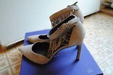 Stuart Weitzman Fringelica Fringe Grey Suede Pumps Heels Size 6.5 NWB