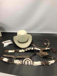 Brown Stetson Hat w/Accs., Sz. 7