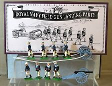 BRITAINS 8898 BOER WAR ROYAL NAVY FIELD GUN LANDING PARTY 1897 SET MINT BOXED nj