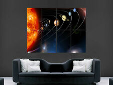 Pianeti Sistema Solare Orbita SUN spazio Arte Parete Immagine grande POSTER GIGANTE