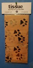 "PAW PRINT TISSUE PAPER 20"" x 26"" 6 SHEETS PER PACK by SAMPLE HOUSE ~ MADE IN USA"